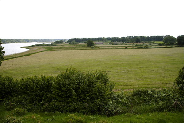 A view of Hedeby from the Northern city wall